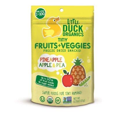 Little Duck Organics Tiny Fruits + Veggies Freeze Dried Snacks Pineapple Apple & Pea