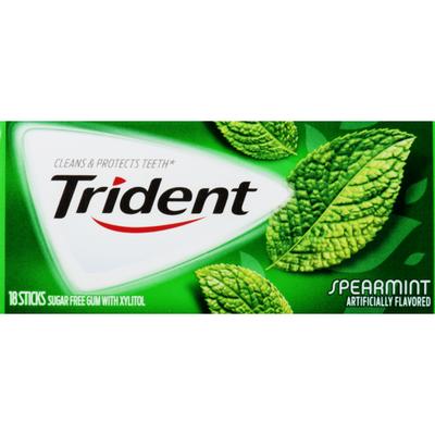 Trident Sugar Free Gum Spearmint