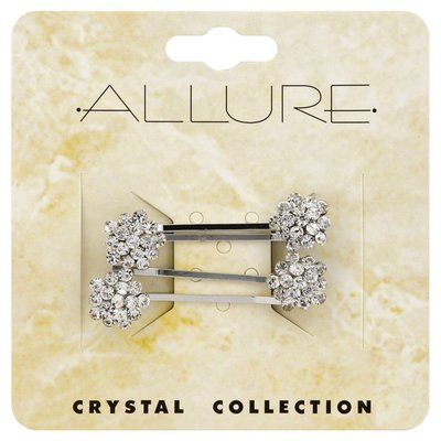 Allure Pins, Crystal Collection, 4 Pieces, Card