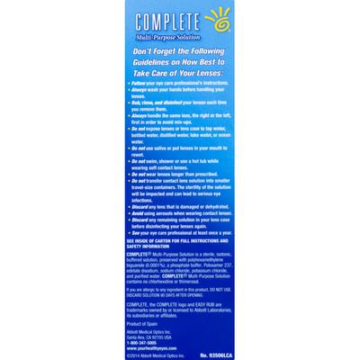 COMPLETE Multi-Purpose Solution, Easy Rub Formula