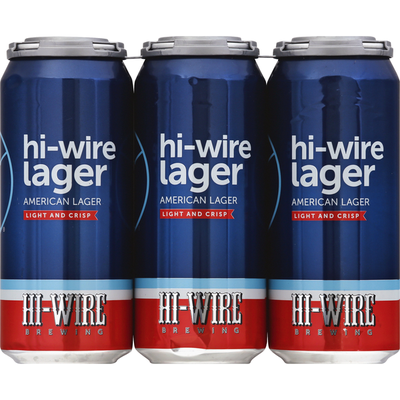 Hi-Wire Brewing Beer, American Lager, Light and Crisp