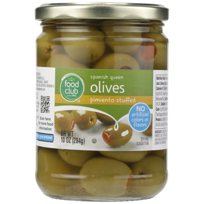 Food Club Pimiento Stuffed Spanish Queen Olives