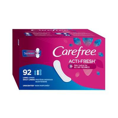 CAREFREE Acti-Fresh Long Pantiliners, Unscented