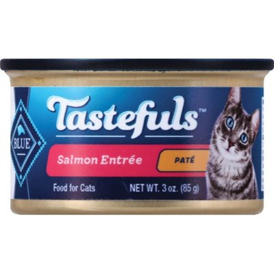 Blue Buffalo Tastefuls Natural Pate Wet Cat Food, Salmon Entrée