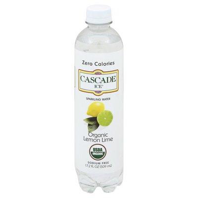 Cascade Ice Sparkling Water, Organic, Lemon Lime
