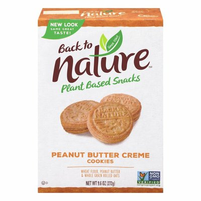 Back to Nature Cookies, Peanut Butter Creme
