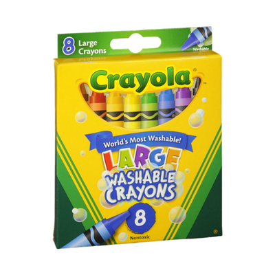 Crayola Crayons, Ultra-Clean Washable, ColorMax, Large
