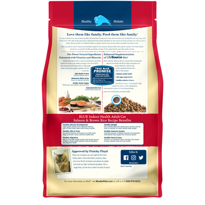 Blue Buffalo Indoor Health Natural Adult Dry Cat Food, Salmon & Brown Rice