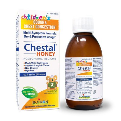 Boiron Children's Chestal Honey Cough Syrup, Homeopathic Medicine for Cough and Chest Congestion