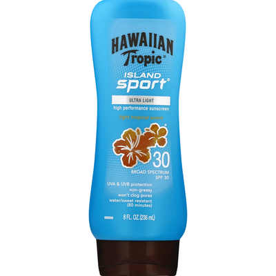 Hawaiian Tropic Island Sport Lotion Sunscreen Broad Spectrum