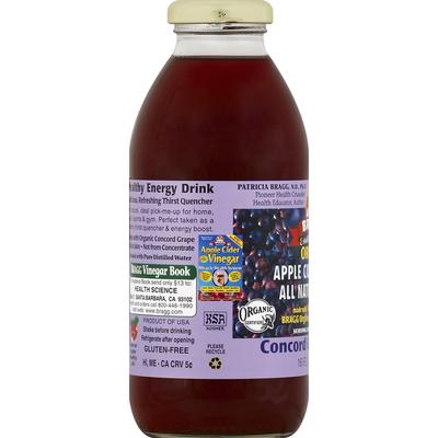 Bragg Apple Cider Vinegar Drink, Organic, Concord Grape-Acai