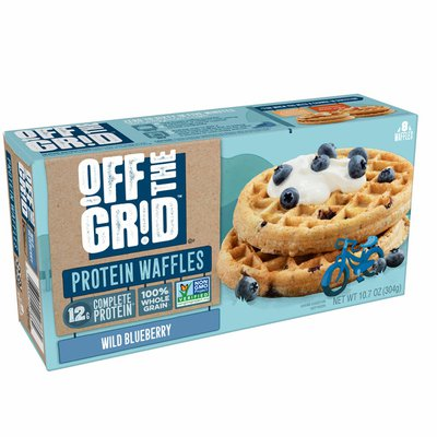 Off the Grid Frozen Waffles, 12g of Complete Protein, Wild Blueberry