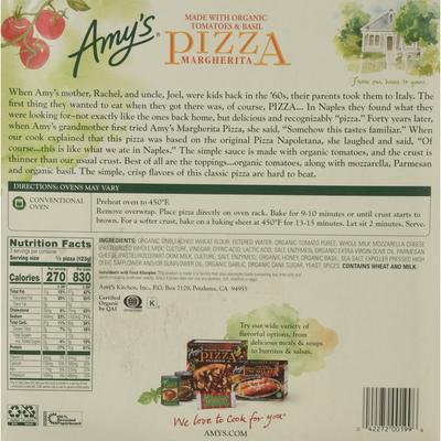 Amy's Kitchen Margherita Pizza