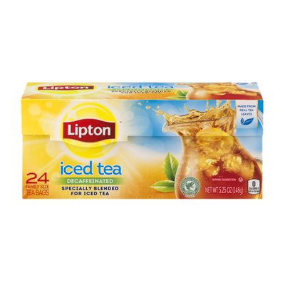 Lipton Family Black Iced Tea Bags Unsweetened Decaffeinated