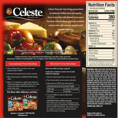 Celeste Pizza, Original 4 Cheese