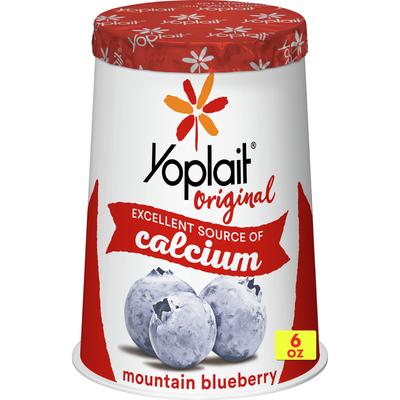Yoplait Original Yogurt, Mountain Blueberry, Low Fat Yogurt