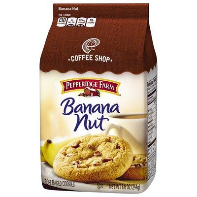 Pepperidge Farm Coffee Shop Banana Nut Soft Baked Cookies