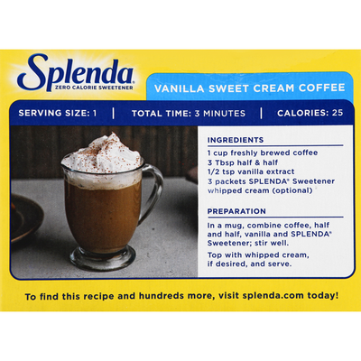 Splenda No Calorie Sweetener, Packets