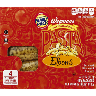Wegmans Food You Feel Good About Elbows, FAMILY PACK
