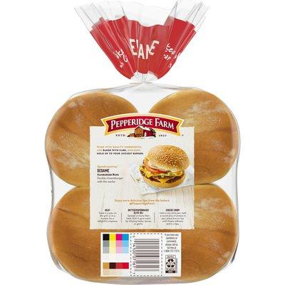 Pepperidge Farm Sesame Topped Hamburger Buns