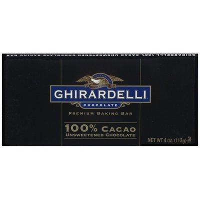 Ghirardelli 100% Cacao Unsweetened Chocolate Baking Bar