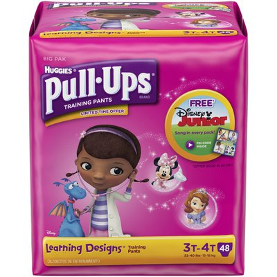 Huggies Pull-Ups Learning Designs 3T-4T Girls Training Pants