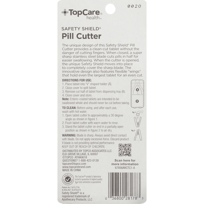 TopCare Safety Shield Pill Cutter