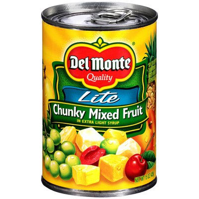 Del Monte Mixed Fruit, Chunky, Lite