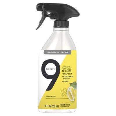 9 Elements Bathroom Cleaner Lemon Multi Surface Shower Tub Tile Cleaning Vinegar Spray 18 Oz Instacart