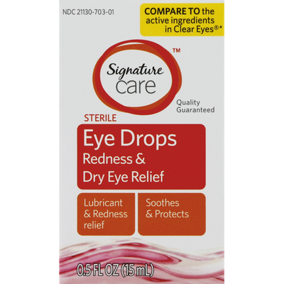 Signature Home Eye Drops, Redness & Dry Eye Relief