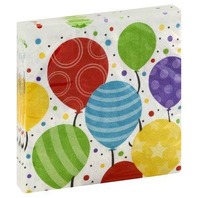 Paper Art Napkins, Shimmering Balloons, 2-Ply