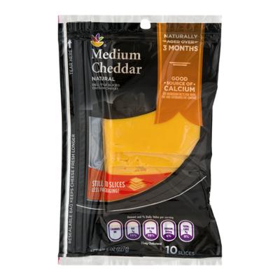 SB Cheese, Medium Cheddar, Deli Style, Sliced
