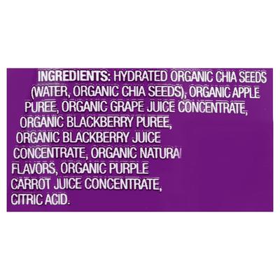 Mamma Chia Vitality Snack, Organic, Blackberry Bliss