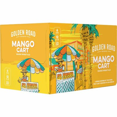 Golden Road Brewing Mango Cart Wheat Ale Craft Beer Cans