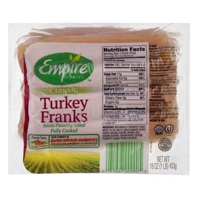 Empire Kosher Turkey Franks, Classic