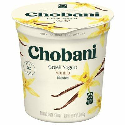 Chobani Vanilla Blended Non-Fat Greek Yogurt