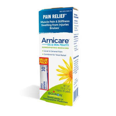 Boiron Arnicare Value Pack Gel and Pellet, Homeopathic Medicine for Pain Relief