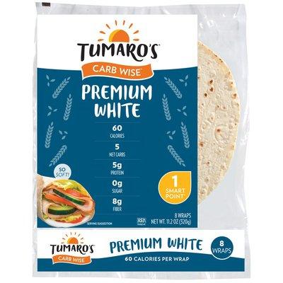 Tumaro's Premium White Carb Wise Wraps