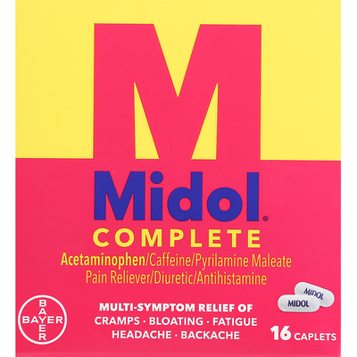 Midol Multi-Symptom Relief, Complete, Caplets