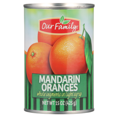 Our Family Mandarin Oranges Whole Segments In Light Syrup
