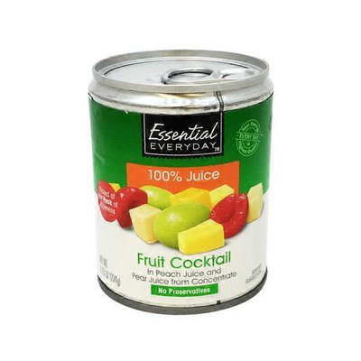 Essential Everyday Fruit Cocktail In 100% Peach Juice And Pear Juice From Concentrate