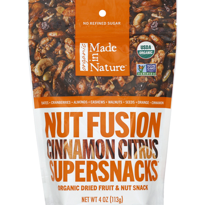Made In Nature Organic Dried Fruit & Nut Snack Cinnamon Citrus