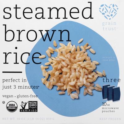 Grain Trust Organic Whole Grain Brown Rice Microwaveable Pouches