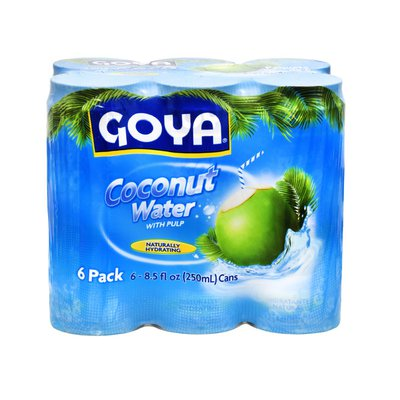 Goya Coconut Water, with Pulp, 6-Pack