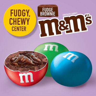 M&M's Fudge Brownie Sharing Size Chocolate Candy Stand Up