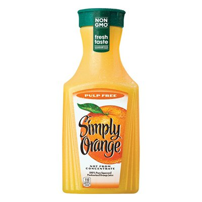 Simply Orange Pulp Free Juice Bottle