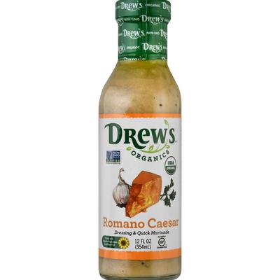 Drew's Organics Dressing & Quick Marinade, Romano Caesar