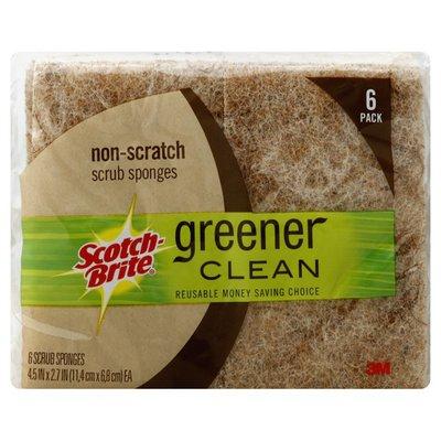 Scotch-Brite Scrub Sponges, Non-Scratch, Greener Clean