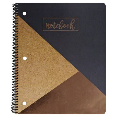 U Style Notebook, 1 Subject, College Ruled, 80 Sheets, Block Party
