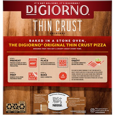 DiGiorno Pepperoni Frozen Pizza with Original Thin Crust